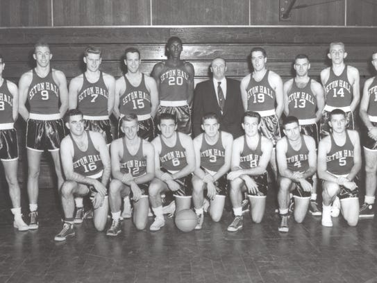 Seton Hall's 1952-53 NIT championship squad.