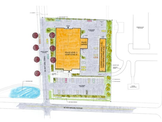 A preliminary design shows a concept layout for the