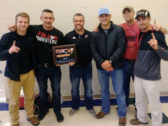 Fairview Middle Schooll Wrestling Coaches (l-r)Austin