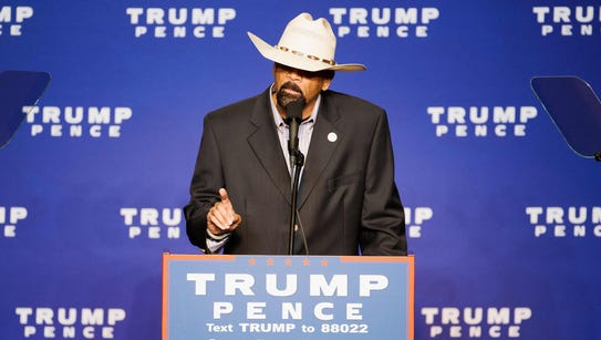 Milwaukee County Sheriff David A. Clarke Jr. speaks