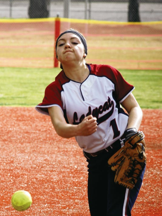 Sophomore right-hander Brissa Mireles has shined for the Lady Wildcats varsity. She filled in neatly when the pitching rotation was depleted by injury and has steadily built confidence.