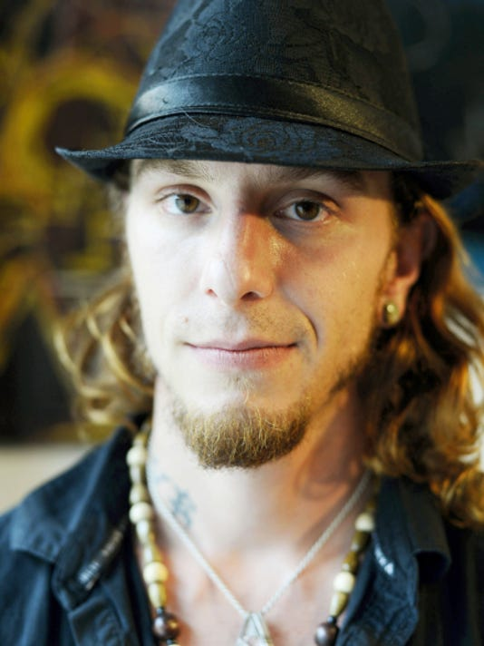 Dustin Nispel, spoken word artist, talked about race and growing up in York last week at The Rooted Artist Collective.