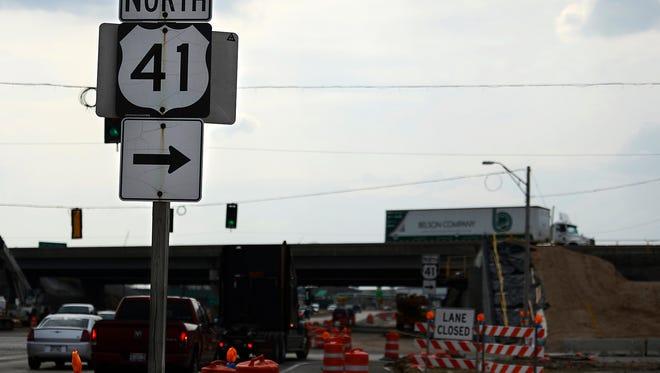 Construction continues this week at the U.S. 41-South Oneida Street interchange in Ashwaubenon.