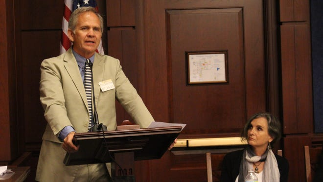 Ed Smart, the father of Elizabeth Smart, who was abducted from her home in 2002 at the age of 14, speaks out about porn at the U.S. Capitol on Tuesday.