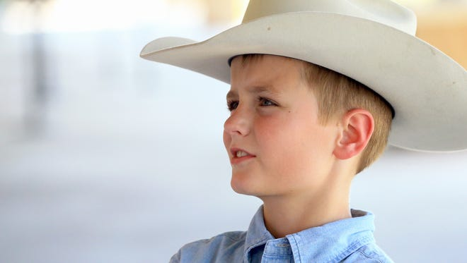 Luke Priestly talks about his role as Man on A Horse during the Rodeo Corpus Christi on Tuesday, April 26, 2017, at the Richard M. Borchard Regional Fairgrounds in Robstown.