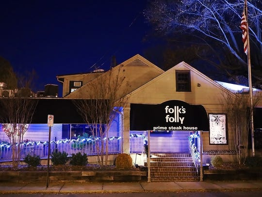 Folk's Folly is a Memphis institution of fine dining serving fine cuts of meat, seafood and salads on Mendenhall near Poplar for 40 years. The restaurant was just named one of the 100 most romantic restaurants in the U.S. by OpenTable.