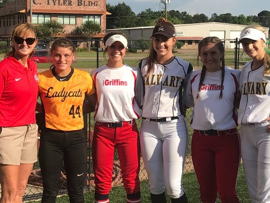 Participating in this weekend's LHSCA All-Star softball