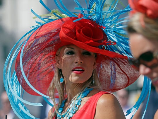 A spectator before the 141st running of the Kentucky