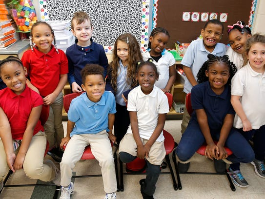 Students in Nikki Fantetti first grade classroom, seated
