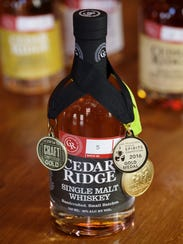 Cedar Ridge's lineup of whiskeys are available in 15