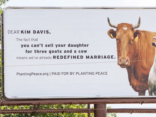 Gay rights group erects billboard in Kim Davis' Kentucky town