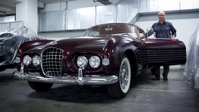 Leslie Kendall of the Petersen Automotive Museum in Los Angeles shows the ultra-rare 1953 Ghia Cadillac.