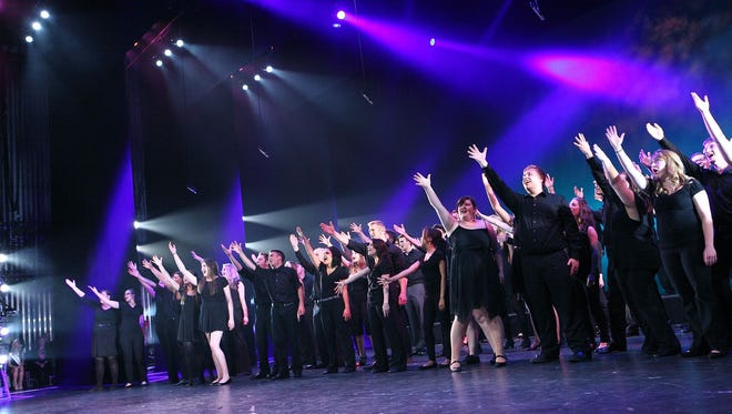 Students performed at the 2014 Iowa High School Musical Theater Awards showcase last year at the Des Moines Civic Center. This year's event is set for Monday.