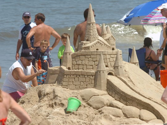 The annual sandcastle contest in Rehoboth Beach.