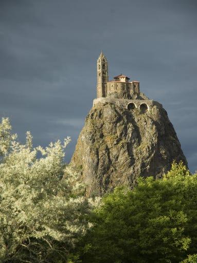 Saint-Michel d'Aiguilhe near Puy-en-Velay,                                                          France, looks                                                           like i