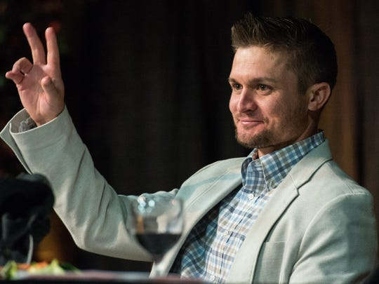 Buck Britton at the 17th Annual Hot Stove Banquet on Thursday, Jan. 25, 2018.