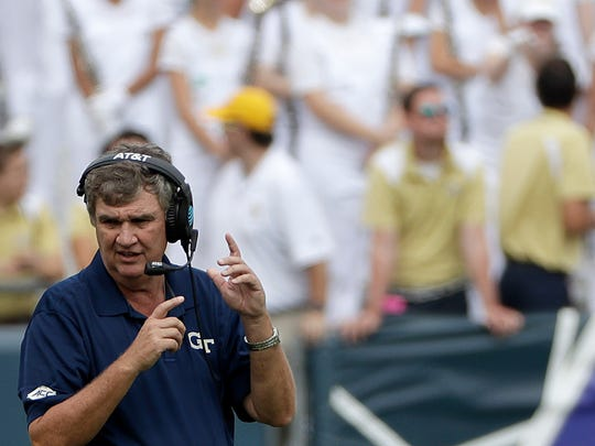 Georgia Tech head coach Paul Johnson and the Yellow Jackets are 1-3 in ACC play.