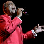 FILE - In this  June 20, 2008, file photo, Cheo Feliciano performs at The Theater at Madison Square Garden, in New York.  The Puerto Rican salsa legend Feliciano died in a car accident early Thursday April 17, 2014, in the U.S. territory. He was 78. (AP Photo/Frank Franklin II, File)