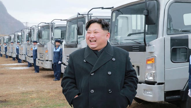 In this undated photo provided on Tuesday, Nov. 21, 2017, by the North Korean government, North Korean leader Kim Jong Un visits the the Sungri Motor Complex in Pyeongannam-do, North Korea. The Trump administration is due to announce new sanctions on North Korea on Tuesday, Nov. 21, 2017, after declaring it a state sponsor of terrorism in the latest push to isolate the pariah nation. Independent journalists were not provided access to the event.