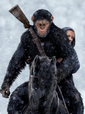 """""""War for the Planet of the Apes""""  arrives at movie screens this week."""