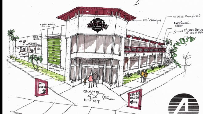 An architect's rendering shows what the new Game II - Extra Innings will look like.
