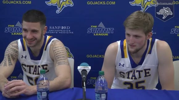 Michael Orris (L) and AJ Hess are SDSU's only seniors