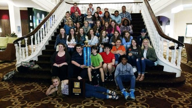 Shown are the Seneca Middle School Honors Chorus displays the awards they earned at the Nashville Heritage Festival.
