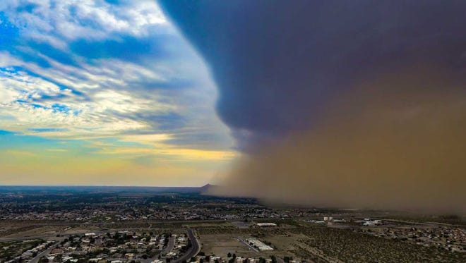 Dust storms like this one descending over Las Cruces in June 2017 increase exposure to a deadly disease called valley fever, caused by a spore that lives in the soils of southern New Mexico.
