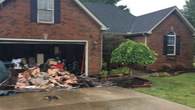 A home on  Comer Drive in Murfreesboro was struck by lightning Thursday, June 28, 2018.