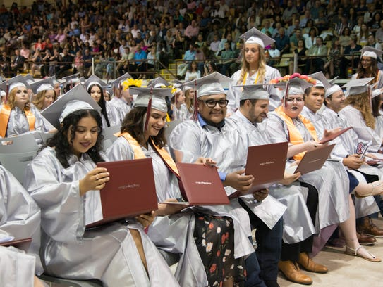 Graduates celebrate at the County College of Morris