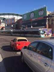 Traffic was flowing steadily near Chase Field prior