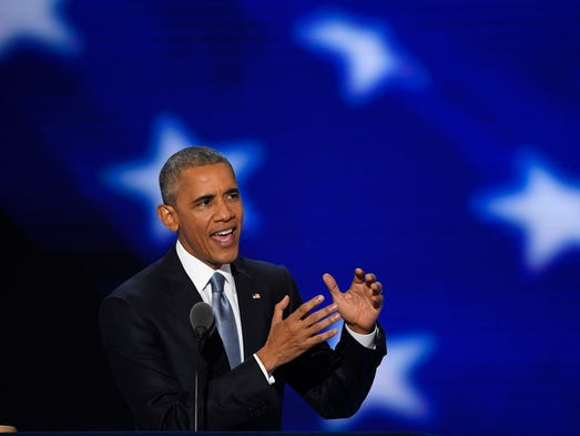 President Obama speaks during the 2016 Democratic National