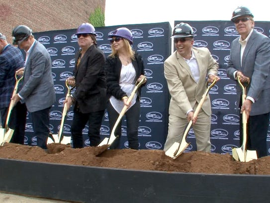 The groundbreaking for the Count Basie Theatre expansion