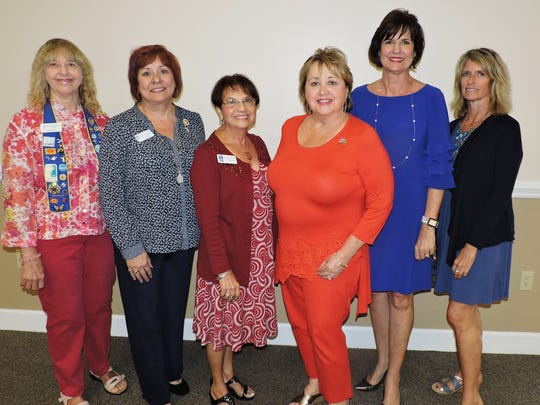 Soroptimist International Dinner with Your Daughter committee members Lucy Lueg, left, Terri Pettingill, Nidia Bernsteil, Sherry Douds, Janice Norman and Gigi Suntum.