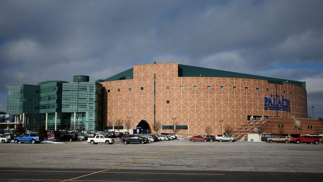 Exterior of the Palace of Auburn Hills on Friday, January 16, 2015.