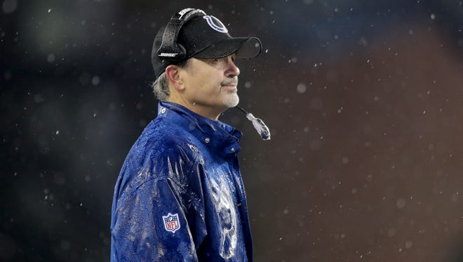 """After the Colts dismal loss Stunday, coach Chuck Pagano said, """"We took another step forward."""" True, writes Gregg Doyel — but not nearly enough of a step forward."""