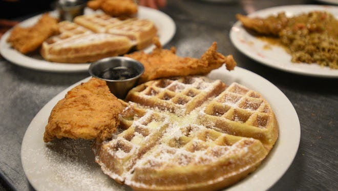 Chicken and waffles prepared by Crescent City Bistro owner Chef Darrell Johnson.