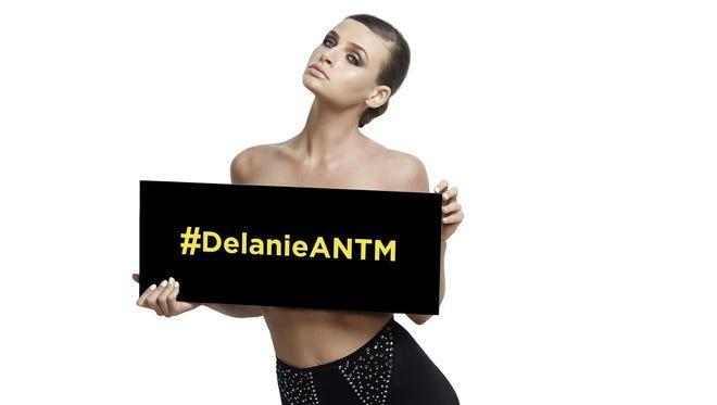 "University of Delaware junior Delanie Dischert, 22, was eliminated on the most recent episode of ""America's Next Top Model."""