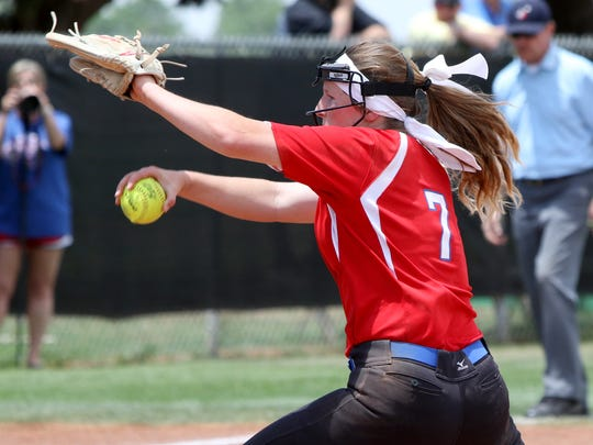 Graham's Emma Southerland was one of seven area players to receive TGCA all-state honors.