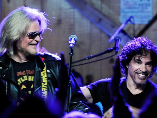 Daryl Hall and John Oates performed at Daryl's House in Pawling, NY