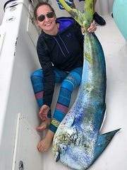 Stephanie Langel of White City caught this 56.4-pound