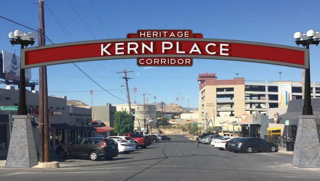 An artist's rendering of what the Kern Place Heritage Corridor and Neighborhood Gateway could look like.