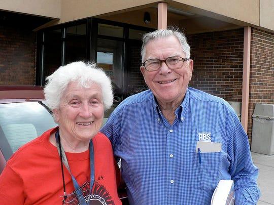 Jackie Jackson, writer and Robert Walton, former ABS president relish dairy history.