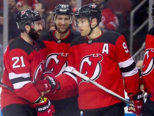 Mar 31, 2018; Newark, NJ, USA; The New Jersey Devils