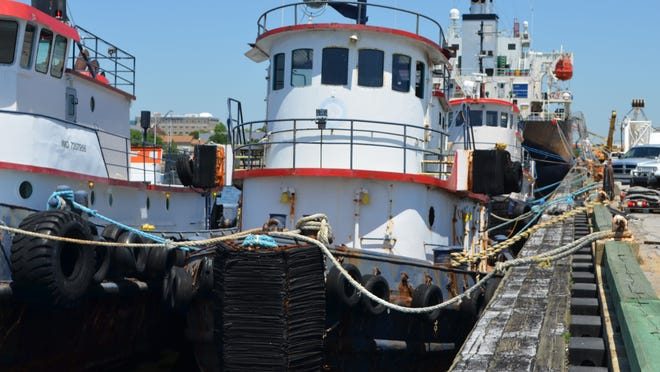 Ocean Windat the Port of Pensacola. Escambia County will purchase and sink the tug boat to create an artificial reef in the Gulf of Mexico.