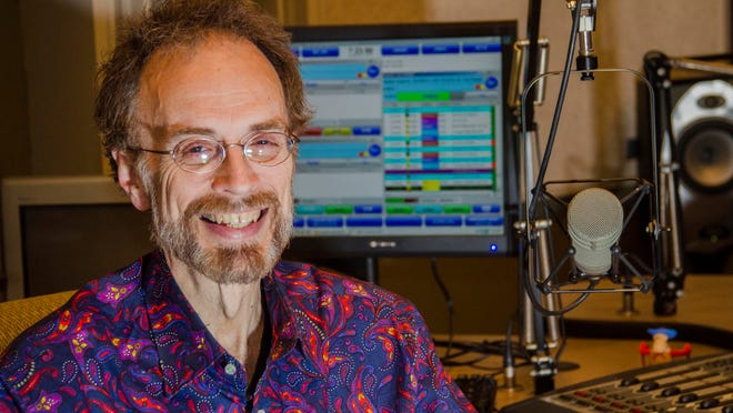 Stan Sollars poses in the studio of Indiana Public Radio on May 12, 2015.