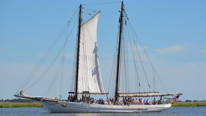 Sail on the A.J. Meerwald during the Delaware Bay Day Festival on Saturday.