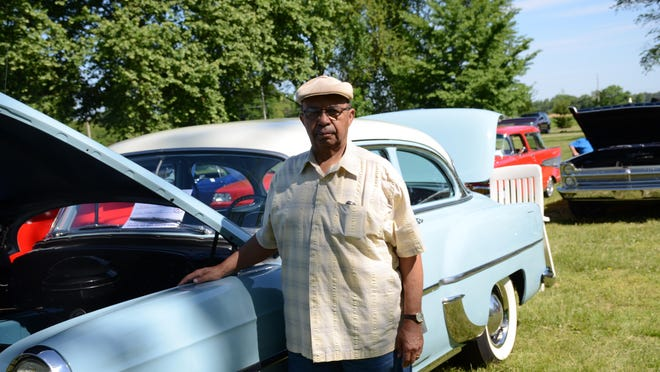 David Johnson of Wyoming, Delaware, is pictured here in front of his restored 1954 Chevrolet.