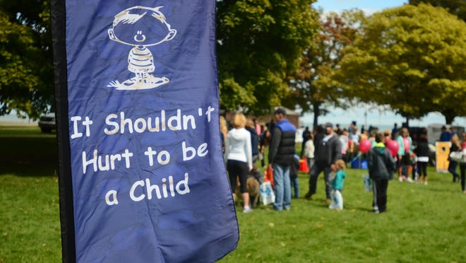 The Walk for Kids' Sake kicked off a week-long fundraiser in 2015 for the St. Clair County Child Abuse/Neglect Council.