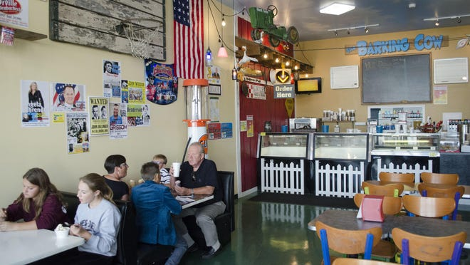 The interior of The Barking Cow in Gaston.